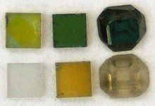 Diamonds with different colors created by electron irradiation  (Source: Wikipedia)